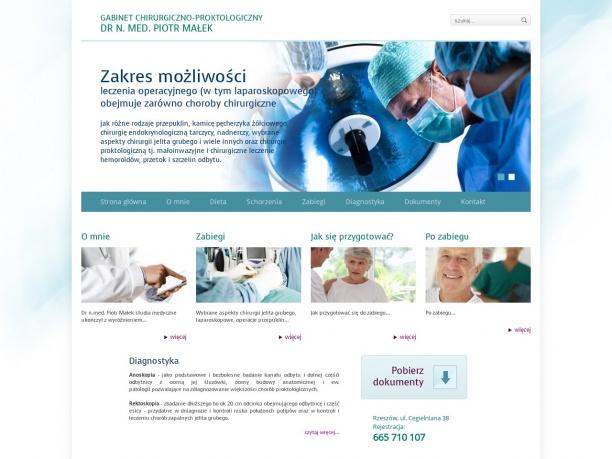 chirurgia proktologia dr n med Piotr Małek