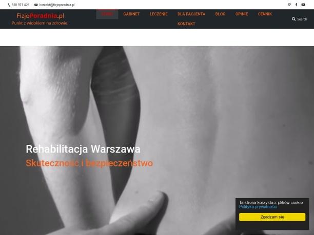 Gabinet rehabilitacji Warszawa Fizjoterapia leczenie bólu