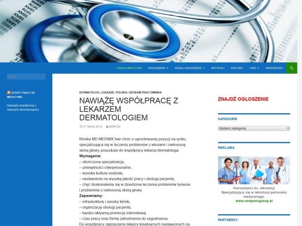 Oferty pracy dla lekarzy pielęgniarek oraz innych pracowników branży medycznej i służby zdrowia