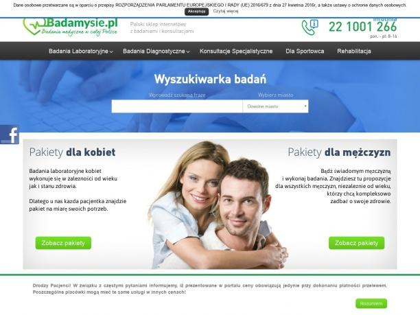 Polski sklep internetowy z badaniami i konsultacjami