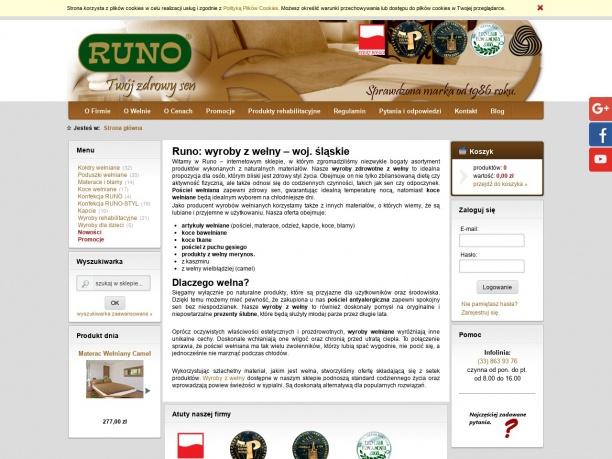 Sklep firmowy RUNO pościel wełniana