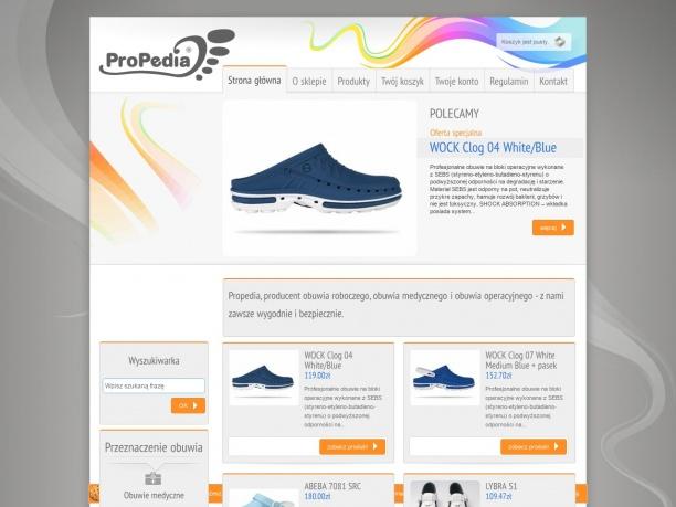 Sklep internetowy z obuwiem medycznym i operacyjnym oraz obuwiem zawodowym