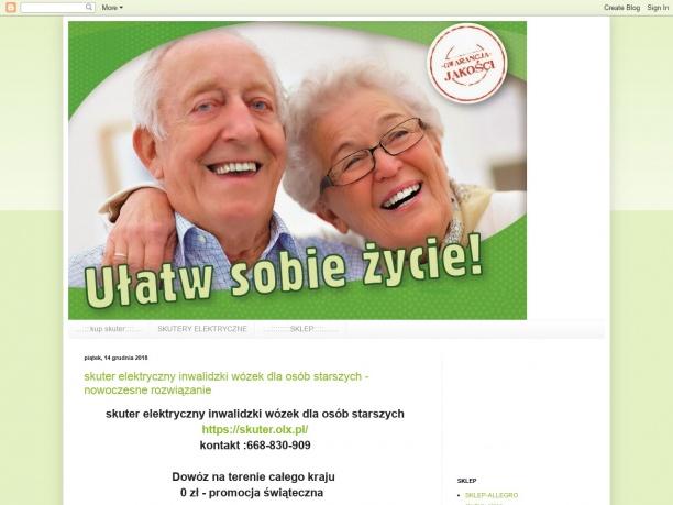 skutery elektryczne dla osób starszych niskie ceny
