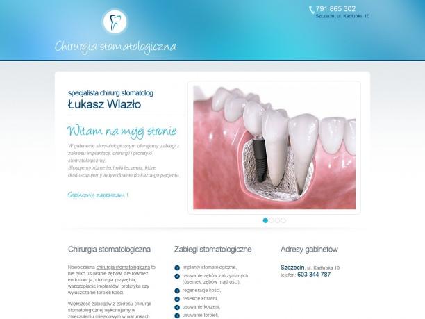 Specjalista chirurg stomatolog Łukasz Wlazło